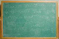 Formula written on a blackboard