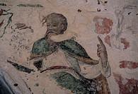 malta, rabat, a fresco in a catacomb