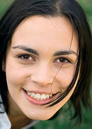 Woman´s smiling face