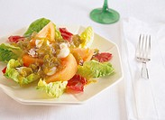 fresh salad, fruit and vegetable salad