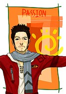 Illustration images of active young people (thumbnail)
