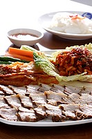 all different types of food and dishes from Asian style to western style