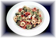 food, gastronomy, culinary, pasta, three colored tortellini, dish, italian