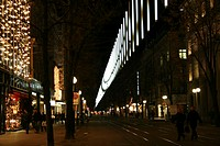 Zurich, town, city, Christmas, Bahnhofstrasse, at night, night, business, trades, stores, shopping, person, lighting,