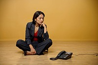 Businesswoman waiting for a call