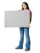 One young girl holding a blank sign (thumbnail)