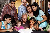 Extended family celebrating a birthday