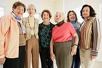 Group of elderly women smiling for the camera