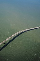 San Francisco Bay bridge, aerial view