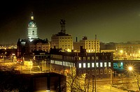 Night view of Evansville. Indiana, USA
