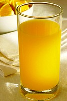 Close-up of a glass of orange juice