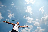Portrait of a Male Javelin Thrower