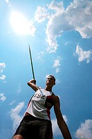 Man Hurling a Javelin