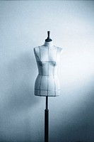 Tailor's dummy, monochrome blue, soft (thumbnail)