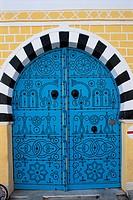 Tunisia, Sidi Bou Sa´d, Blue Door