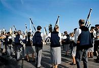 France, Brittany, Plomordiern, festival of  Menez-Hom