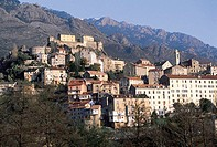 France, Corsica, Corte, village high up