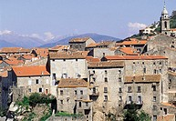 France, Corsica, Sartene, traditional homes