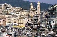 France, Corsica, Bastia, the city and the old harbour