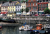 Ireland, Cork County, Cobh village and fort