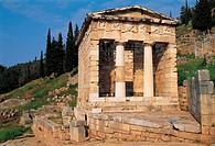 Delphi, Athenian treasure