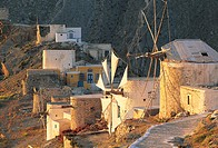 Karpathos, windmills of Olympos