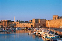Rhodes, fortress and harbour