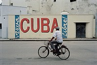Havana, man on a bike