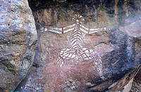 Australia, Kakadu national park, aboriginal petroglyphs
