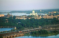 Finland, Helsinki, panoramic view