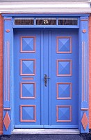Denmark, Aero Island, door at Aeroskobing