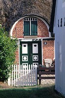Denmark, Fano Island, Sonderho, traditional house entrance