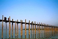 Myanmar, Mandalay, Thaungthaman lake, U Bein bridge
