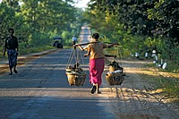 Myanmar, road near Bagan