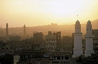 Yemen, Sanaa, city and Great Mosque (thumbnail)
