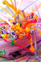 multicolored cocktail sticks topic: summer desserts