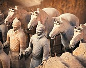 China, Xi'an, vaults of First Emperor Qinshihuang's terracotta army
