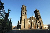 Cathedral in Puebla, Mexico
