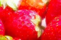 Close-up picture of strawberries