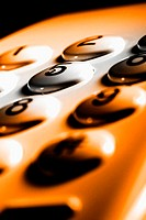 Close-up on the buttons of a telephone