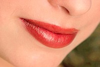 An up-close picture of a nice red lips