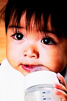 Baby girl drinking milk (thumbnail)
