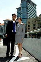 Couple in office attire