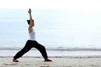 Woman practising yoga