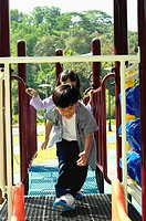 Children having fun in the playground