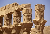 Temple-(Goddess-Isis)-and-Hieroglyphs,-Philae-Is.,-Nasser-Lake,-Aswan,-Egypt