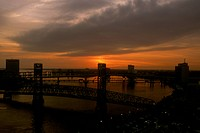 Time Lapse Sequence 2 of 3: St. Johns River in downtown Jacksonville FL, sunset