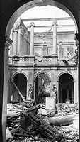 'Egyptian mummies and 5,000-year-old relics from royal tombs were destroyed when fire bombs gutted Liverpool Central Museum. In the adjoining library ...