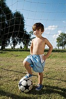 Boy with football