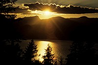 Howe Sound at sunset, British Columbia, Canada